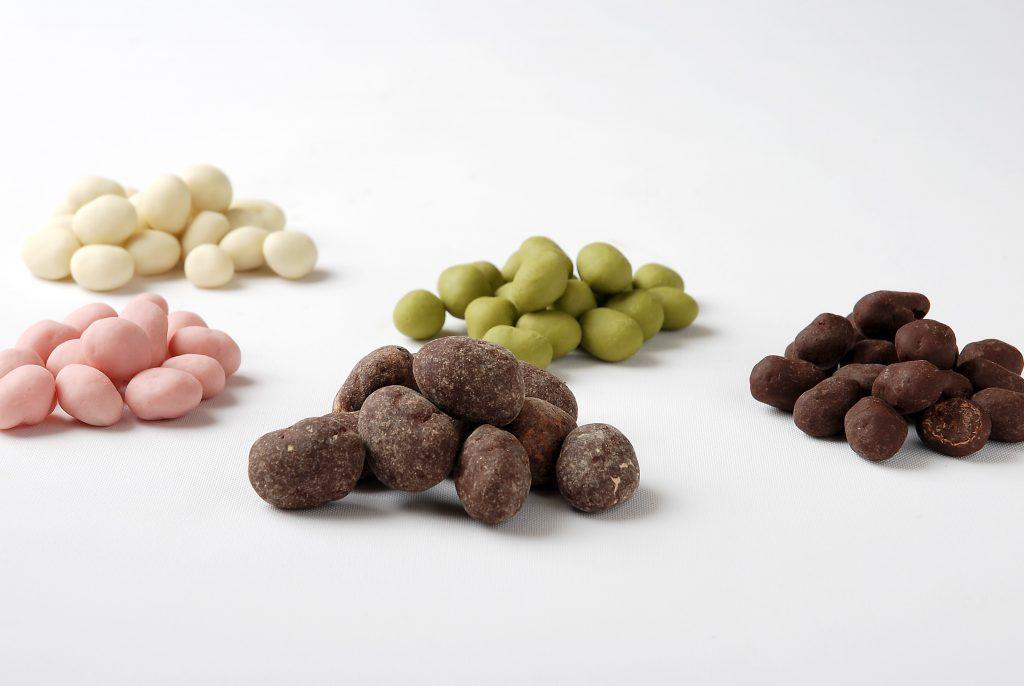 「かりっとちょこ豆」4種類、9月20日に今年も発売しました
